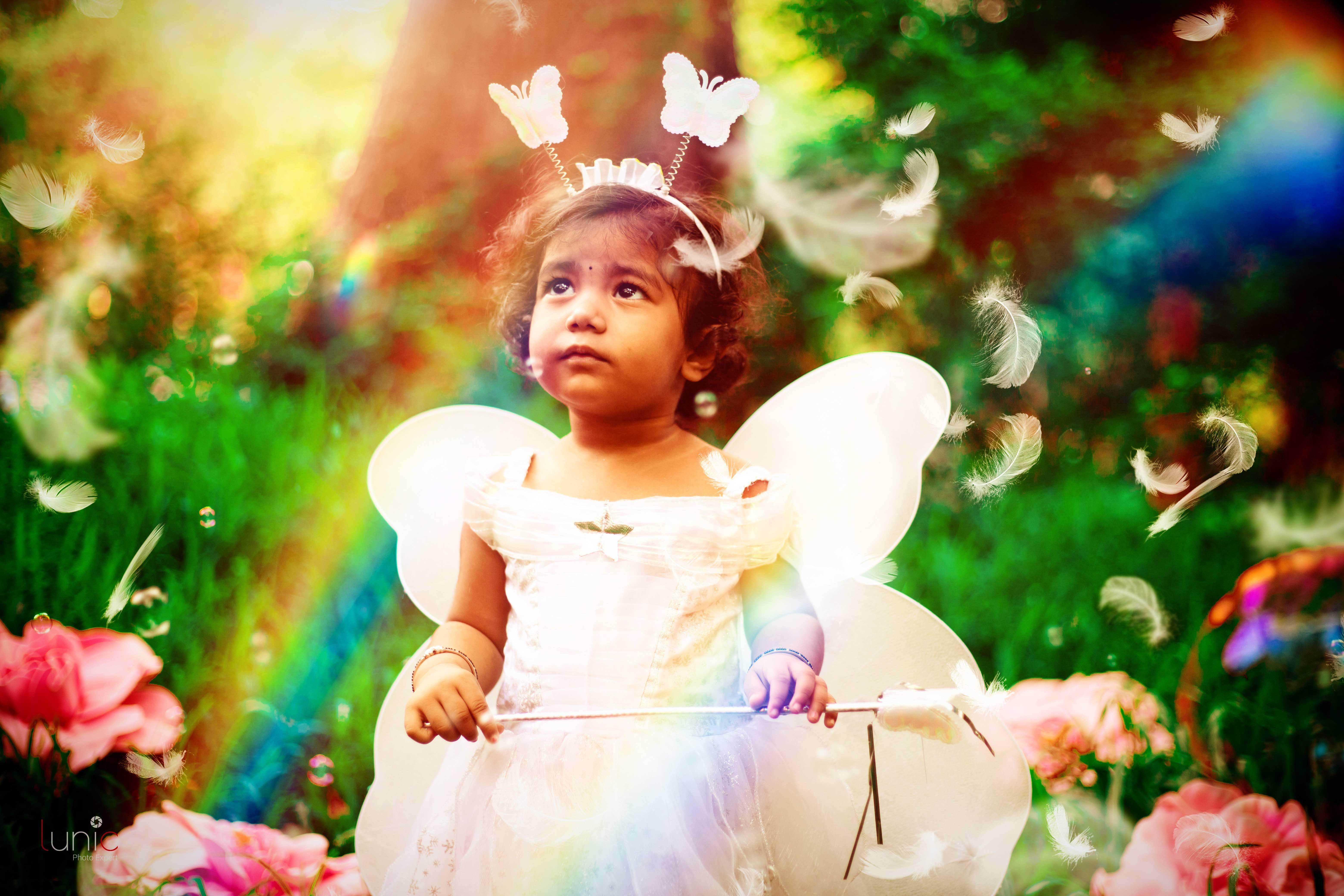 Fairy baby photoshoot