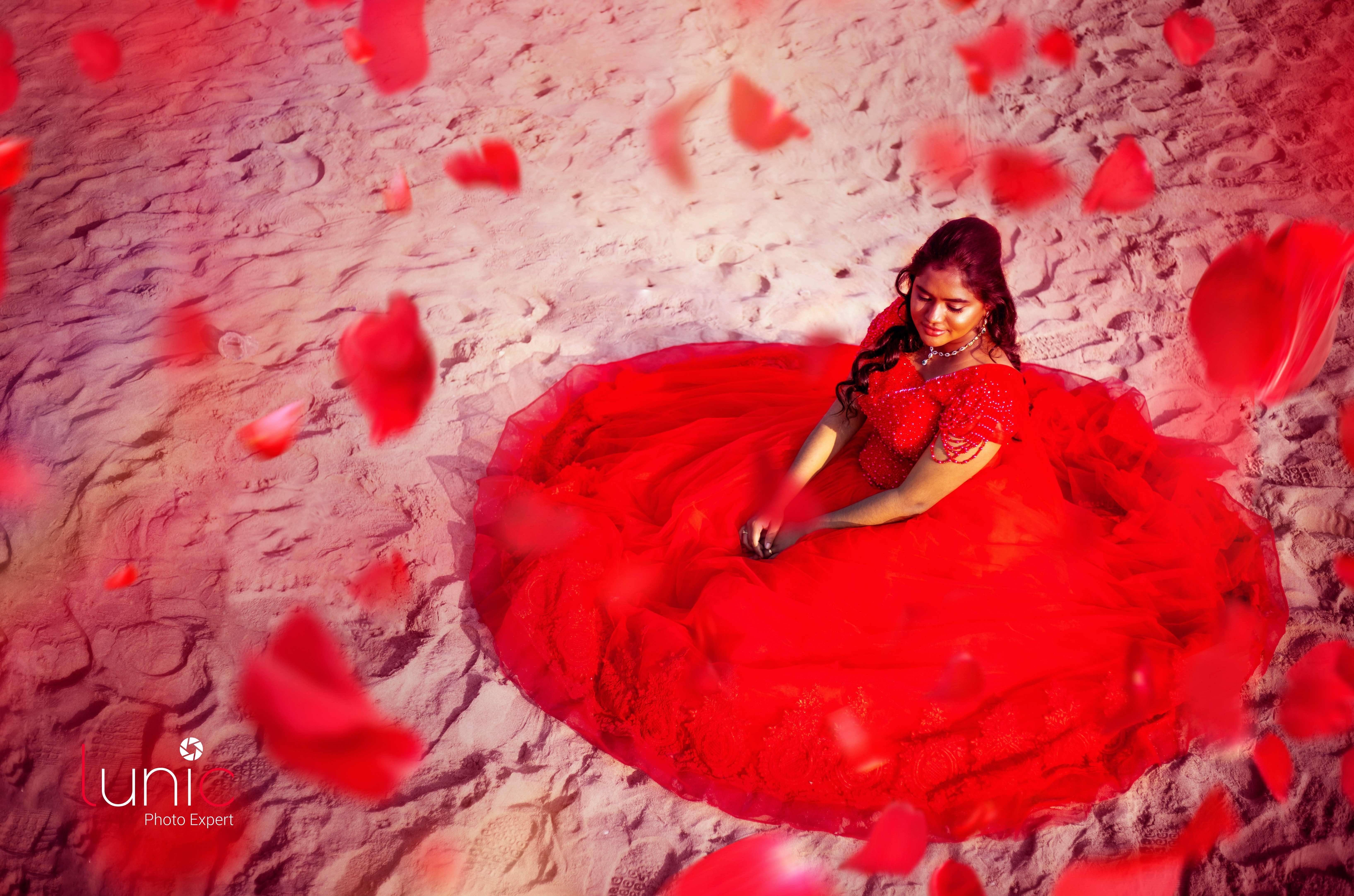 Girl Long lehanga Red