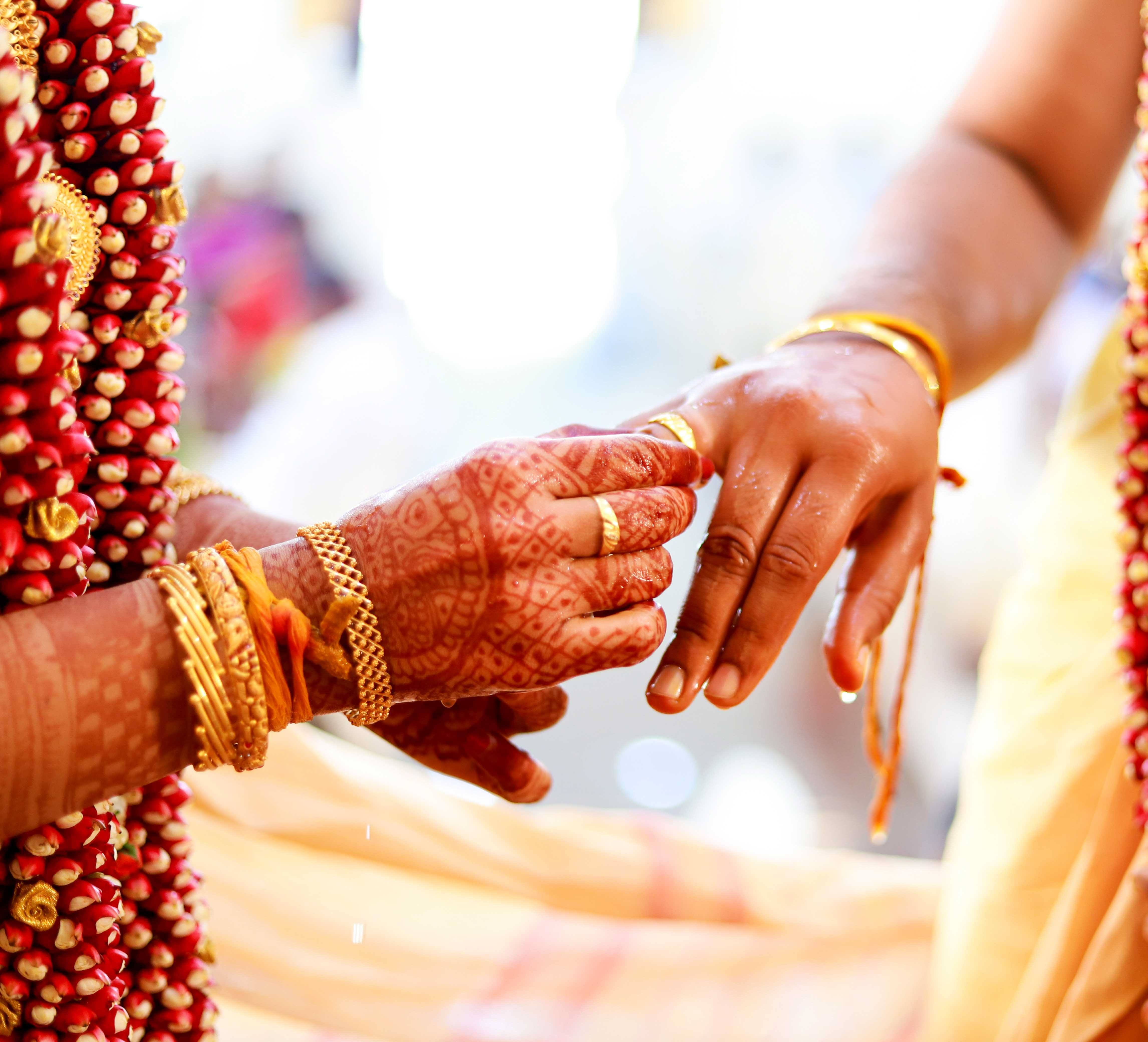 Bride ring exchange